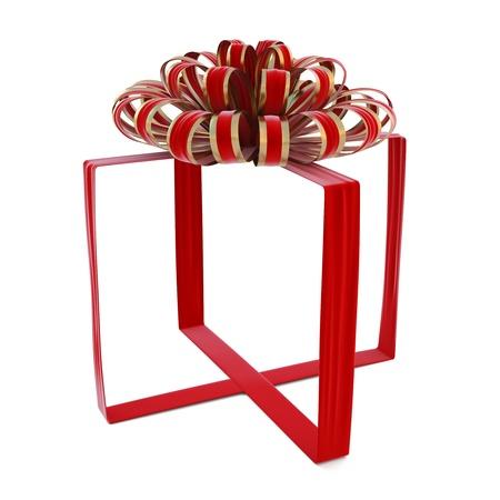 velvet ribbon: invisible gift bandaged velvet ribbon. isolated on white.