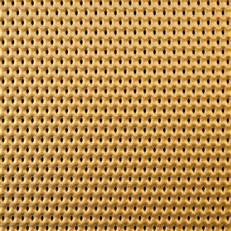 construction mesh: golden background with holes Stock Photo