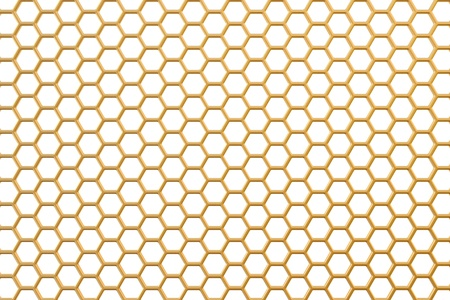 metal net: golden background with holes Stock Photo