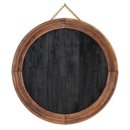cadre photo en bois. isolé sur blanc.