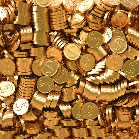 golden coins background photo