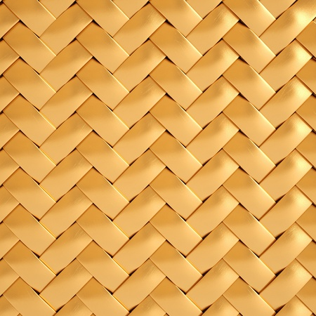 gold house: golden texture of rattan