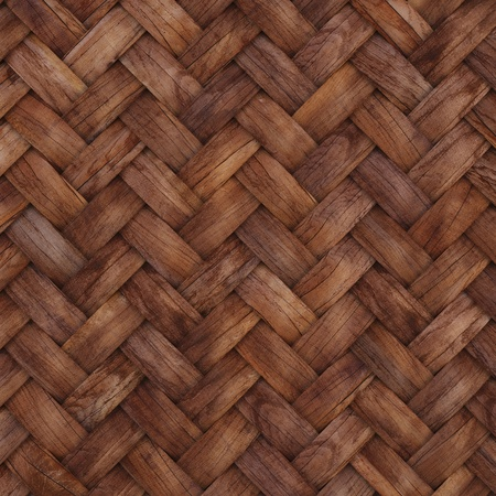 mesh texture: the brown wooden texture of rattan with natural patterns Stock Photo