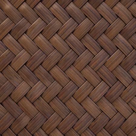 woven surface: la textura de madera marr�n de la rota con los patrones naturales