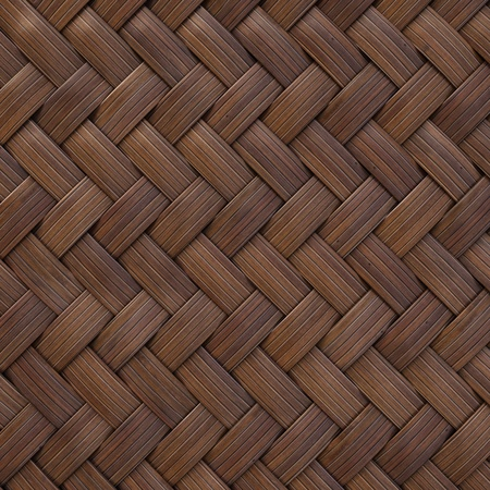 rattan: the brown wooden texture of rattan with natural patterns Stock Photo