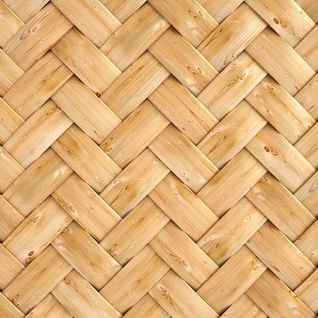 wooden texture of rattan with natural patterns photo