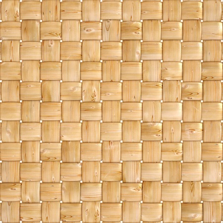 woven surface: background texture of woven wood with natural patterns Stock Photo