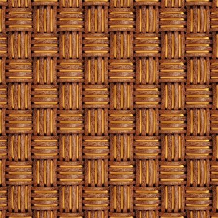 background texture of woven wood with natural patterns Stock Photo