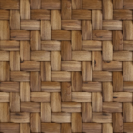 the brown wooden texture of rattan with natural patterns Stock Photo