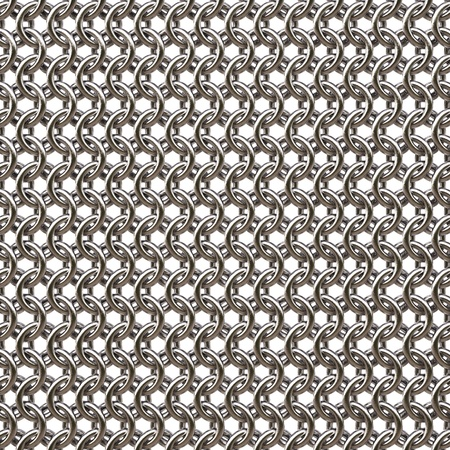 wire mesh: armor from steel rings. isolated on white.