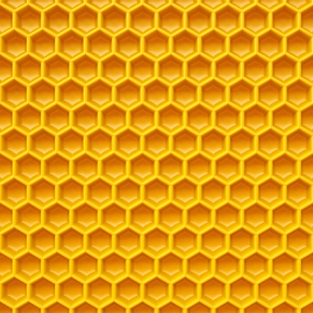 apiculture: honeycomb made ​​of yellow plastic. Isolated on white.