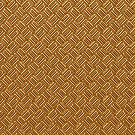 tread plate: Golden ribbed texture. 3d high detail background.