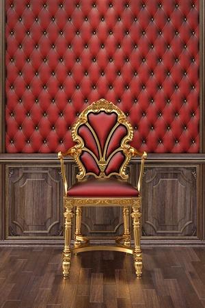 golden chair in the luxuus inter. Stock Photo - 12769756