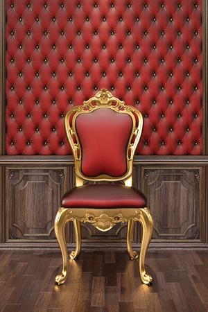 golden chair in the luxuus inter. Stock Photo - 12769751