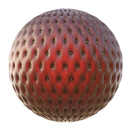 luxurious leather ball with gold buttons. Stock Photo - 12940594