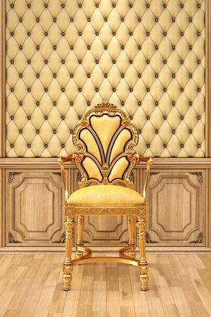 golden chair in the luxuus inter. Stock Photo - 13415873