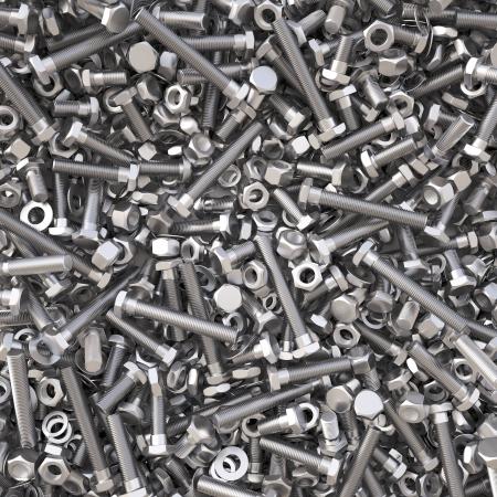 tuercas y tornillos: tuercas y tornillos. Fondo 3d.