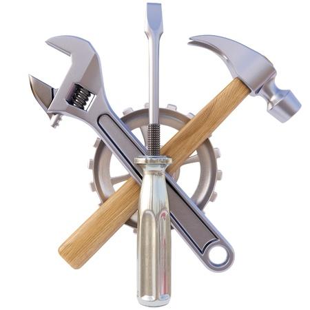 Symbol aus dem Werkzeug. Isoliert auf weiß. Standard-Bild