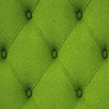 lawn furniture: Leather covered with green grass Stock Photo