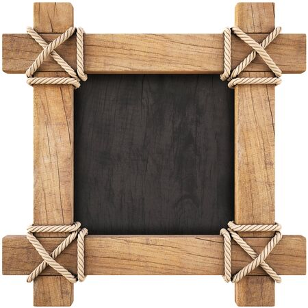 wooden frame. isolated on white. photo