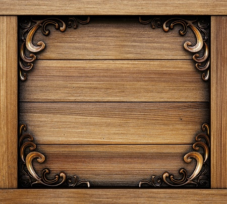 ornate decorative wooden panel. photo
