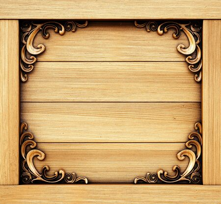 ornate decorative wooden panel. Stock Photo - 14935291