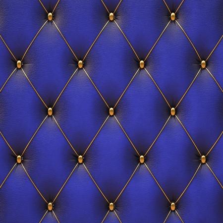 luxe blauwe leer met gouden knopen.