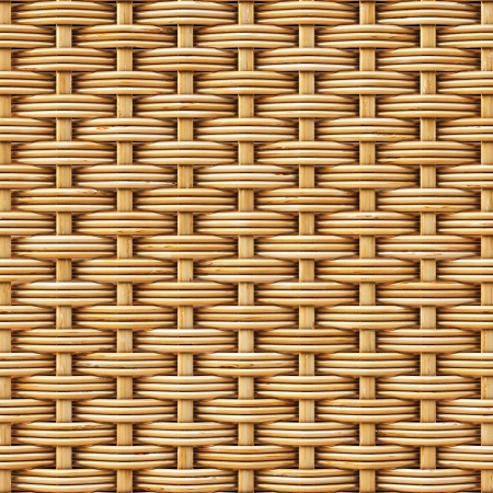 baskets: woven rattan with natural patterns Stock Photo