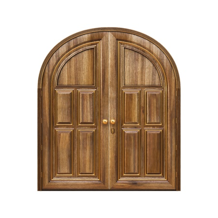 Luxury classic doors. Isolated on white. Stock Photo - 15847790
