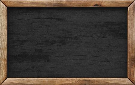 tablero del menú de madera. Foto de archivo