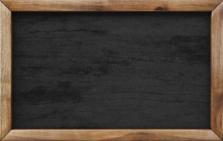wooden menu board. Stock Photo
