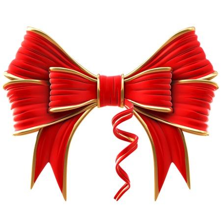 red velvet bow. isolated on white.