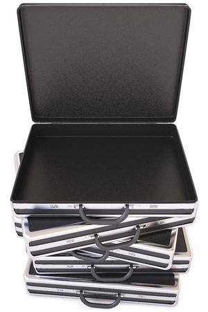 Open black case  Isolated on white  photo
