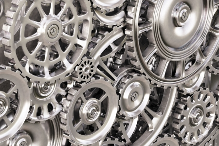 cog gear: abstract background of the metal gears  Stock Photo