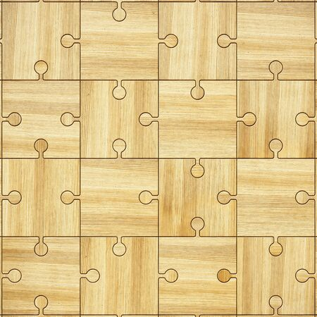 blanks: wooden parquet puzzles Stock Photo