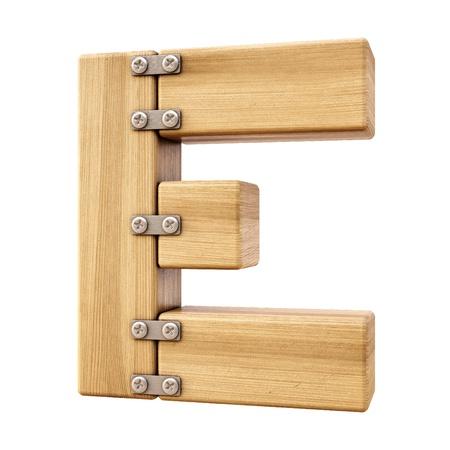 Alfabet van hout. Geà ¯ soleerd op wit.