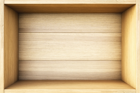 timber frame: empty wooden box. Stock Photo