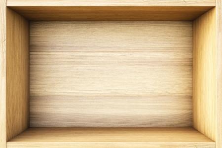 storage box: empty wooden box. Stock Photo