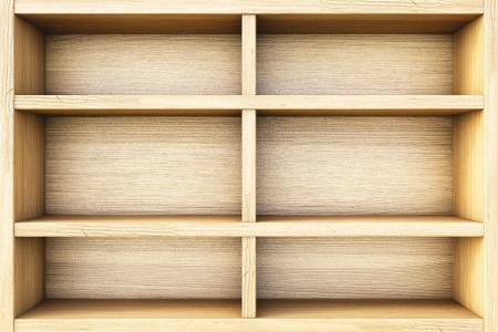 bookcases: empty wooden box. Stock Photo