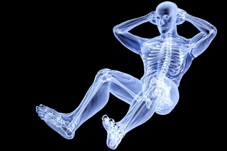 grownup: male athlete under the X-rays Stock Photo