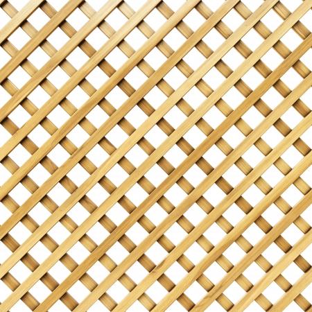 wooden lattice. Isolated on white.