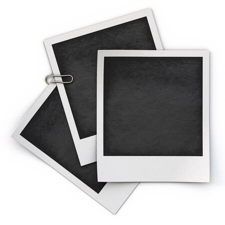 photo frame isolated on white background. photo