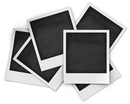 白い背景で隔離の写真フレーム。