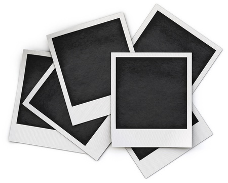 photo frame isolated on white background.