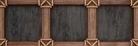 Vintage wooden frame Stock Photo - 23241723
