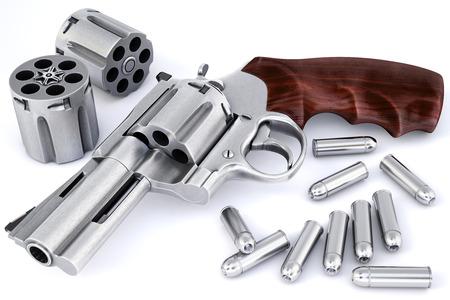 antique pistols: pistol isolated on white. Stock Photo
