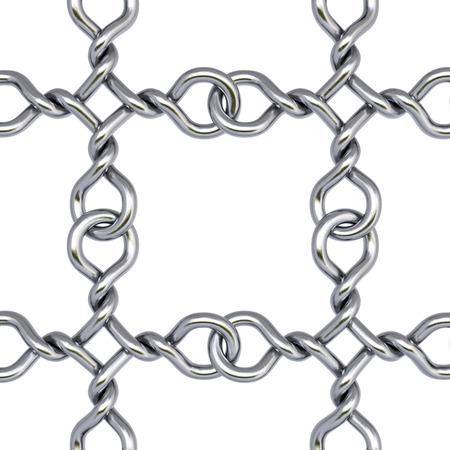safety net: iron fence on white background Stock Photo