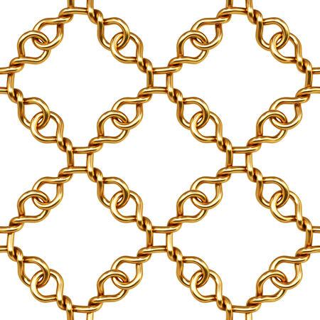 safety net: golden fence on white background