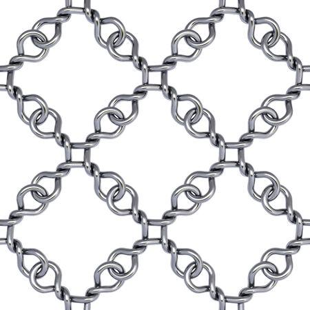 iron fence on white background photo