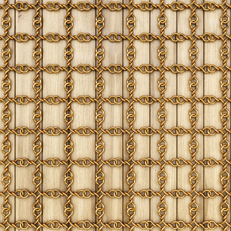 golden grid on wooden boards. photo